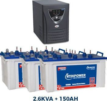 Microtek JUMBO JM SW 3000 Inverter + 3 Battery Combo