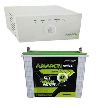 Amaron 880VA Home Inverter + Tall Tubular 150AH Battery Combo