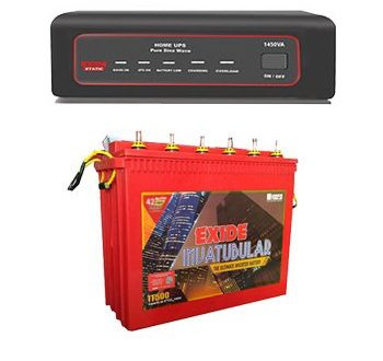Exide 1450VA Sinewave Inverter UPS + Tubular 150AH Battery