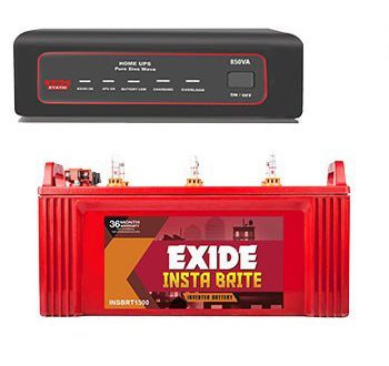Exide 850VA Home Inverter UPS + Inva Tubular 150AH Battery Combo