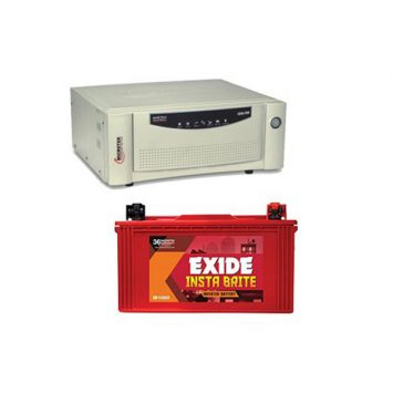 Microtek 700VA Sinewave Home UPS With Exide 100AH Battery Combo