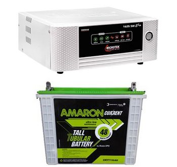 Microtek 1115VA Inverter Amaron 150AH Tall Tubular Battery Combo