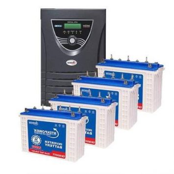 Microtek JUMBO JM SW 4000 Inverter + 4 Battery Combo