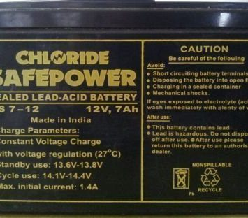 Exide Chloride 12V 7Ah Battery