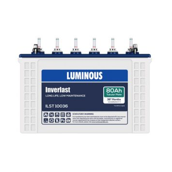 LUMINOUS ILT10036 80Ah INVERTER BATTERY