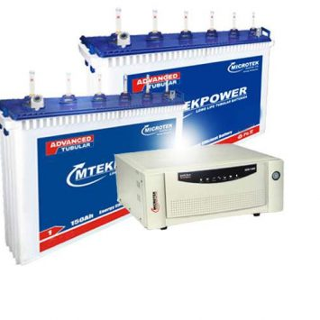 Microtek 1700 Inverter+150AH Double Battery Combo