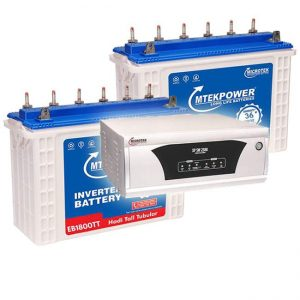 Microtek 2300 Inverter 150AH Tall Tubular Double Combo