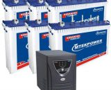 Microtek JUMBO JM SW 6000 Inverter + 6 Battery Combo