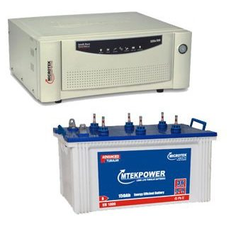 Microtek 900VA Sinewave Inverter 100AH Jumbo Tubular Battery Combo