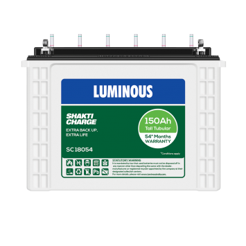 LUMINOUS SHAKTI CHARGE-SC 18054 150Ah TUBULAR BATTERY